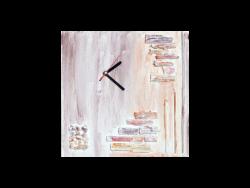 Wandbild Oro mit Uhr