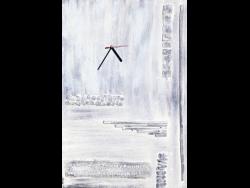 Wandbild Grey mit Uhr