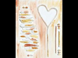Wandbild mit Herz