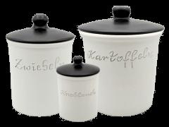 Kombinationen verschiedener Vorratsdosen und Brottöpfe|Set Keramik